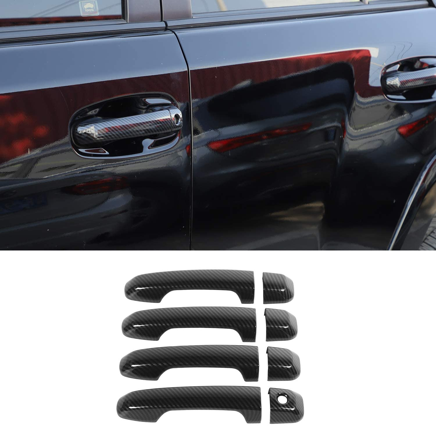 Dogggy 2pcs Auto Car Door Handle Covers Trim Decor Black Car Accessories Door Handle Cover Car Styling