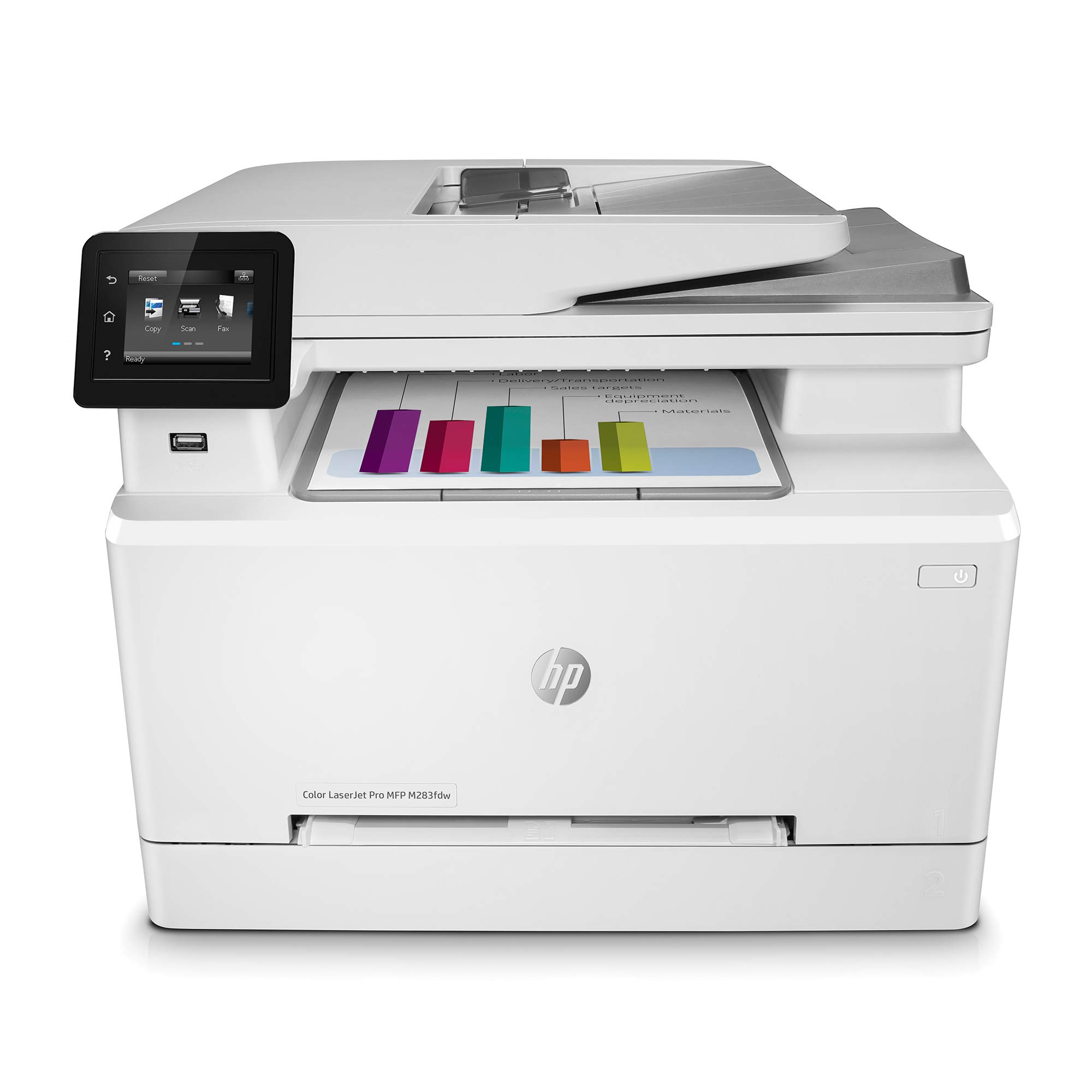 HP Colour LaserJet Pro M283fdw Multi-Function Printer (3 Years HP Commercial Warranty), White