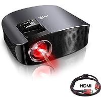 Proiettore HD, Videoproiettore LED Artlii 3500 Lumens, Supporti 1080p, Compatibile con TV / Chromecast, USB, iPhone, PC, per Videogiochi, Film (Nero)