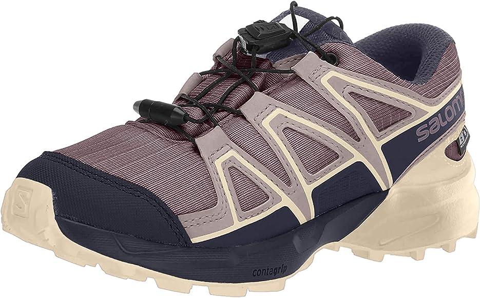 Salomon Speedcross CSWP J, Zapatillas de Trail Running Unisex Niños, Morado (Flint/Evening Blue/Bellini), 31 EU: Amazon.es: Zapatos y complementos