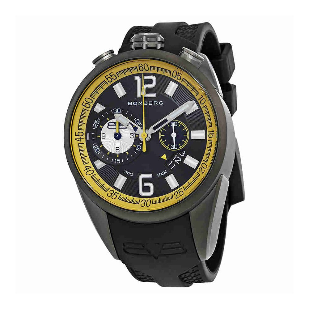 Bomberg 1968 Dial Mens Gunmetal Chronograph Watch NS44CHPGM.0083.2 by Bomberg