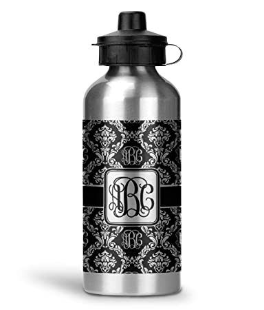 ed29b39ab2 Image Unavailable. Image not available for. Color: Monogrammed Damask Water  Bottle ...