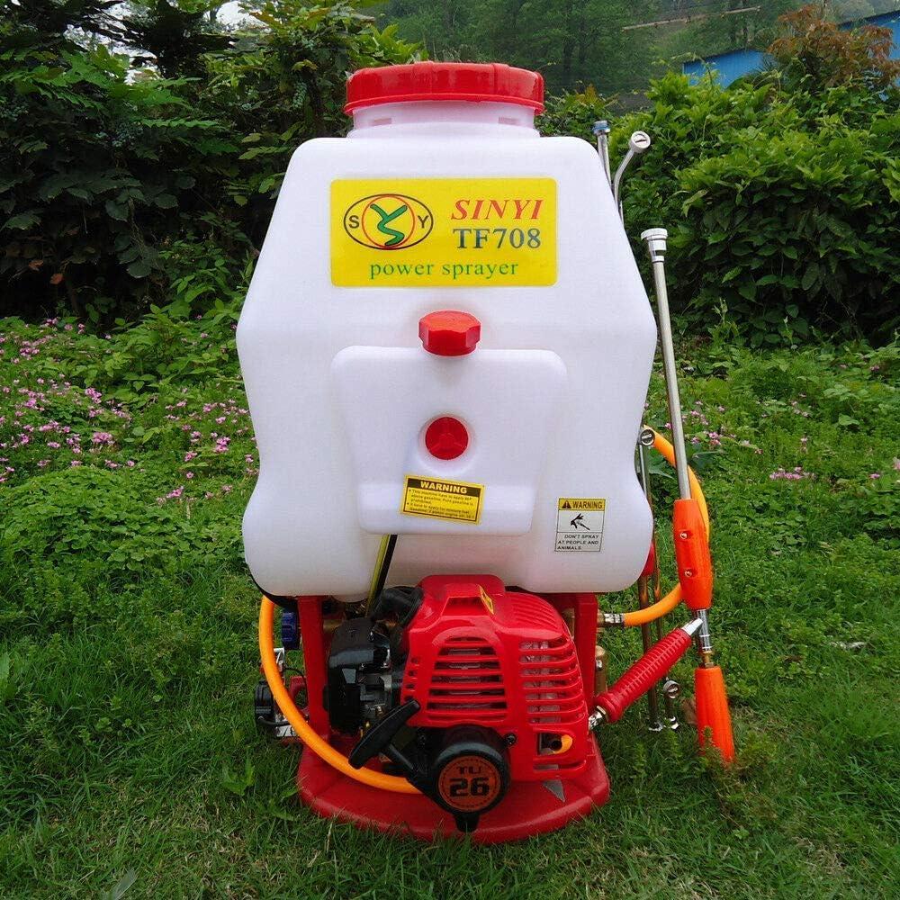 YIQIFEI Pulverizador de presión hidráulica, pulverizador motorizado, pulverizador de Motor, 20 L para Malas Hierbas agrícolas y pulverizador de presión para jardín, fácil y eficiente