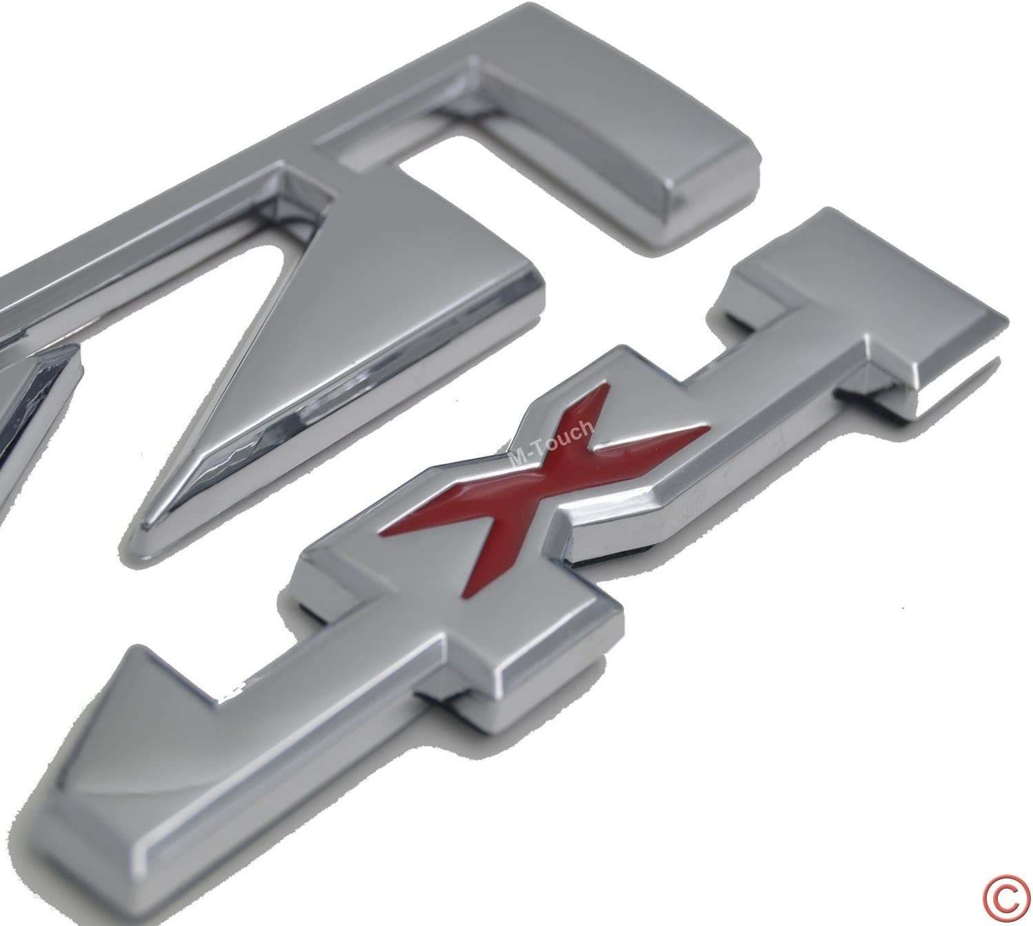 2x Good Quality Red Chrome Z71 4x4 Emblem Badge Plate OEM for 2013-2015 GMC Chevy Silverado Sierra