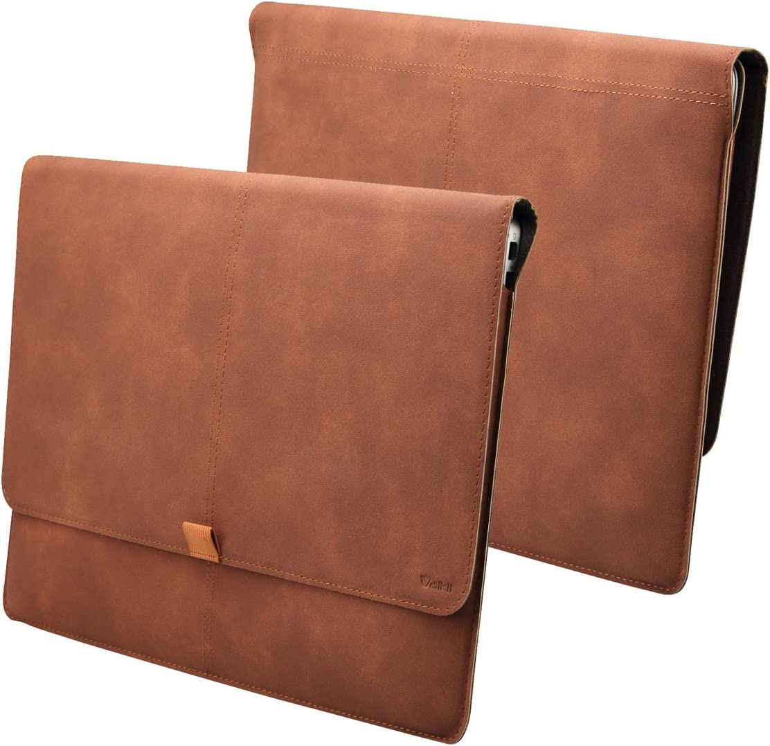 Valkit Macbook Air 11 inch Sleeve, Macbook Air 11 Case, Laptop Ultrabook 11 inch Sleeve Carrying Case Cover Bag Skin For Macbook 11 inch A1370 A1465 With Card Slot, Brown Color