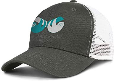 Mens Womens Mesh Trucker Caps Cute Sloth Head Logo Snapback Flat Hat