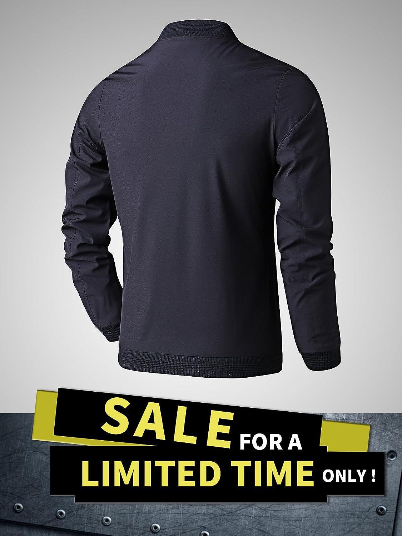 Amazon.com: Ltifone Chaqueta casual para hombres, con ...