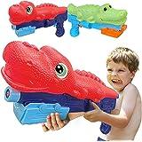 HOBEGA Water Gun for Kids 2 PCS Toys Crocodile Dinosaur Water Gun Water Soaker Blaster Squirt Guns for Toddlers Boy Girls Bea