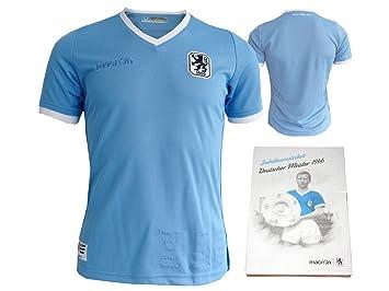 Macron TSV 1860 München Jubiläums Niños Camiseta 1966 Deutsche Campeonato de Fútbol Jersey Leones Fútbol Fan