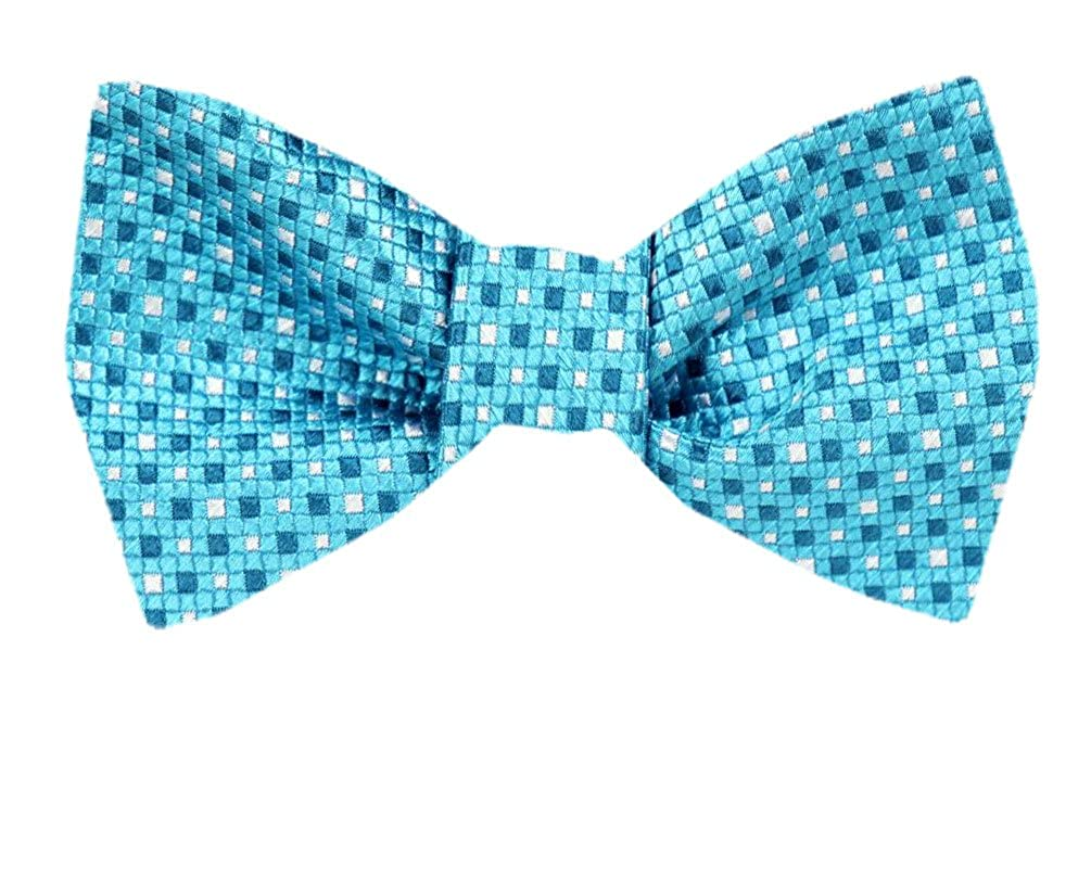 Tie yourself Bow Ties Silk Mens Aqua Turquoise Sky Blue Self tie Bowtie Many Designs Available