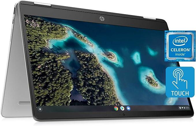 HP Chromebook x360 14a Laptop - Dual Core Intel Celeron N4020 - 4 GB RAM - 32 GB eMMC Storage - 14-inch HD Touchscreen - Google Chrome OS - Lightweight and Long Battery Life (14a-ca0010nr, 2020) | Amazon