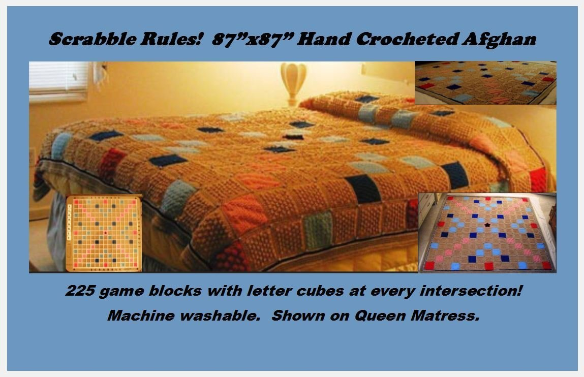 Crochet Afghan ''Scrabble Rules!''