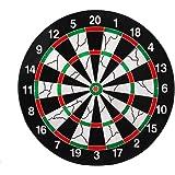 Playking Flocking Thickened Dartboard Darts Disk 30cm Diameter with 6 Dart Needles, Multicolor