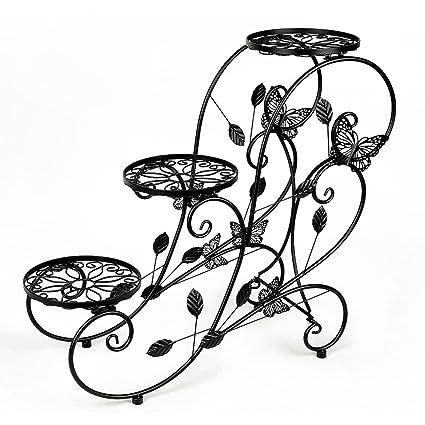 Amazon Com Jykj Flower Stand European Wrought Iron Staircase