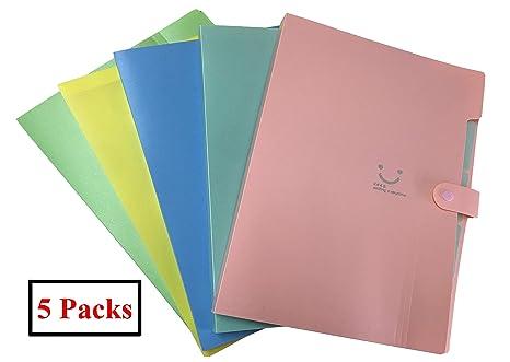 Carpeta Clasificadora Acordeon A4, Carpetas Archivadoras, Carpetas Plastico para Oficina, Hogar, Escuela