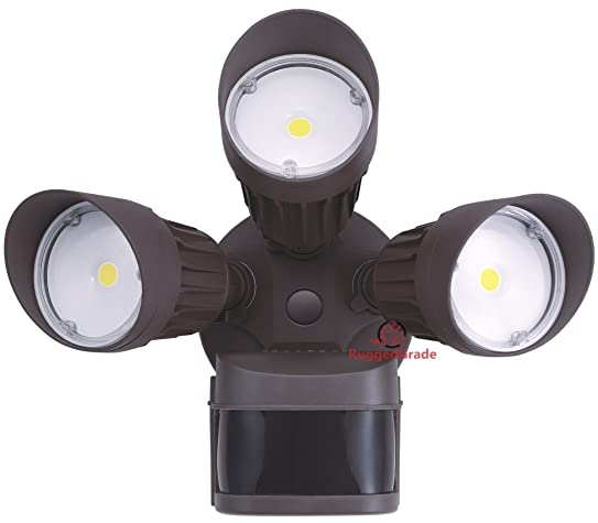 30 Watt LED Motion Sensor Flood Light U2013 Bronze Color Housing U2013 2,600 Lumen  U2013 Super