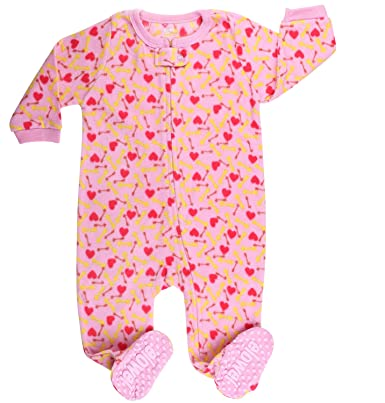 0628f22cae04 elowel Baby Girls Footed Dog Food Pyjama Sleeper Fleece (Size 6 M-5 ...