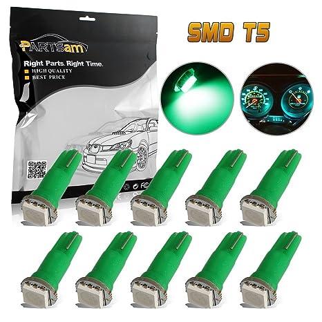 Amazon.com: Lámparas rojas de LED 37 74 2721 T5 1 ...