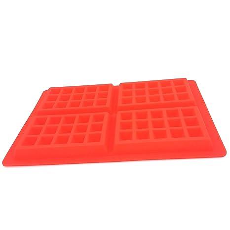 Incluso gofres de silicona molde huafu 4 cuadrado