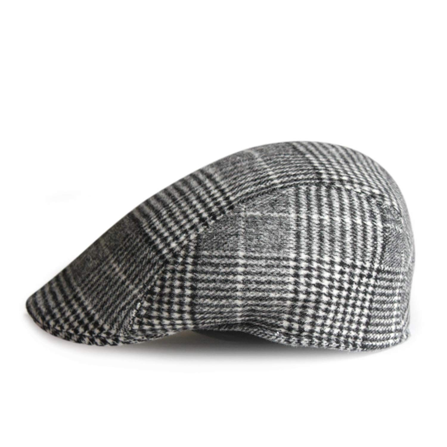 8a740faa8b9 French Hats for Men Women Wool Tweed Cap Vintage Plaid Flat Painters Winter  Autumn Newsboy Beret Houndstooth at Amazon Women s Clothing store