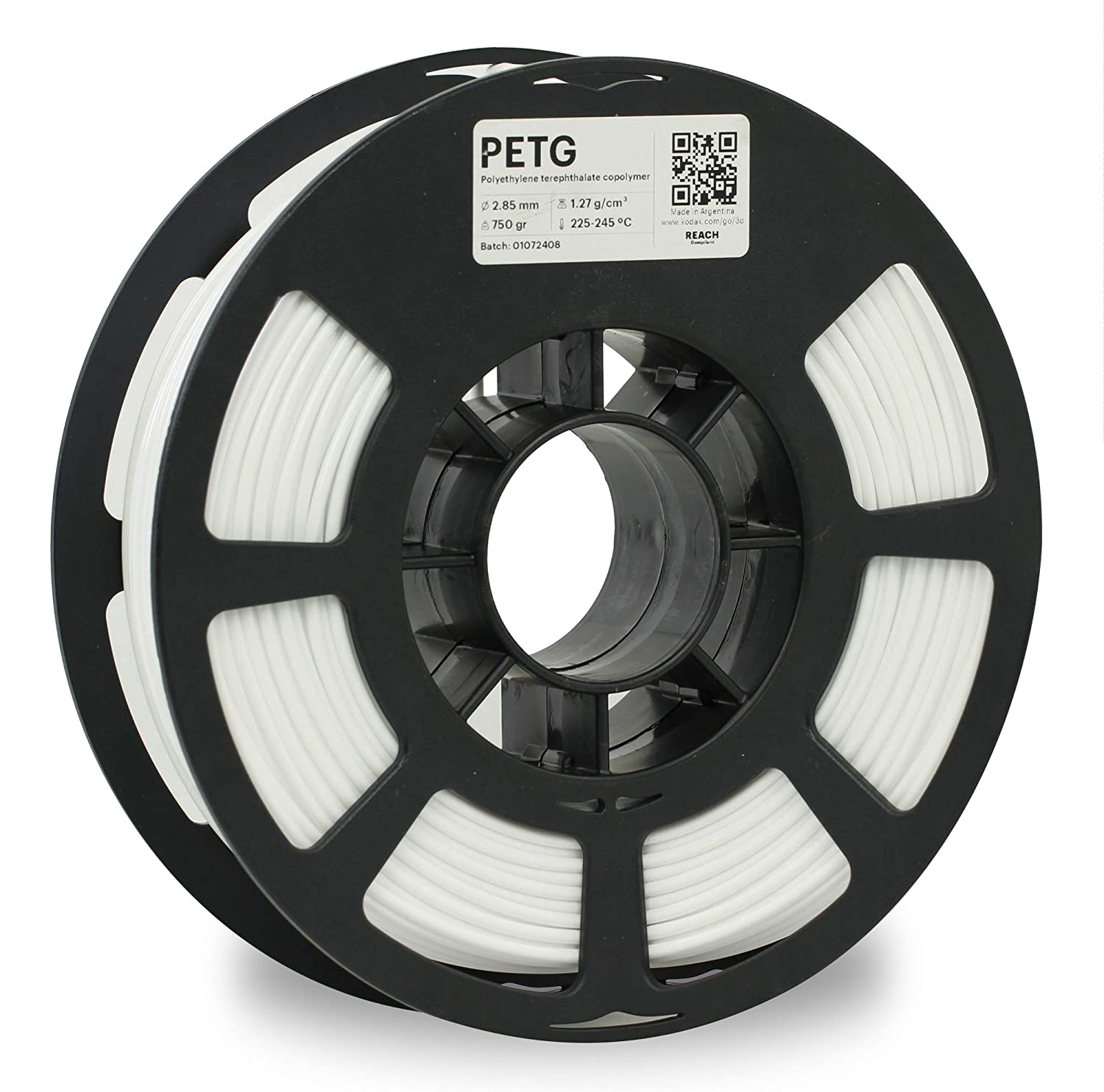 KODAK PETG Filament 2.85mm for 3D Printer, White PETG, Dimensional Accuracy +/- 0.02mm, 750g Spool (1.7lbs) PETG Filament 2.85 Used as 3D Filament Consumables to Refill Most FDM Printers