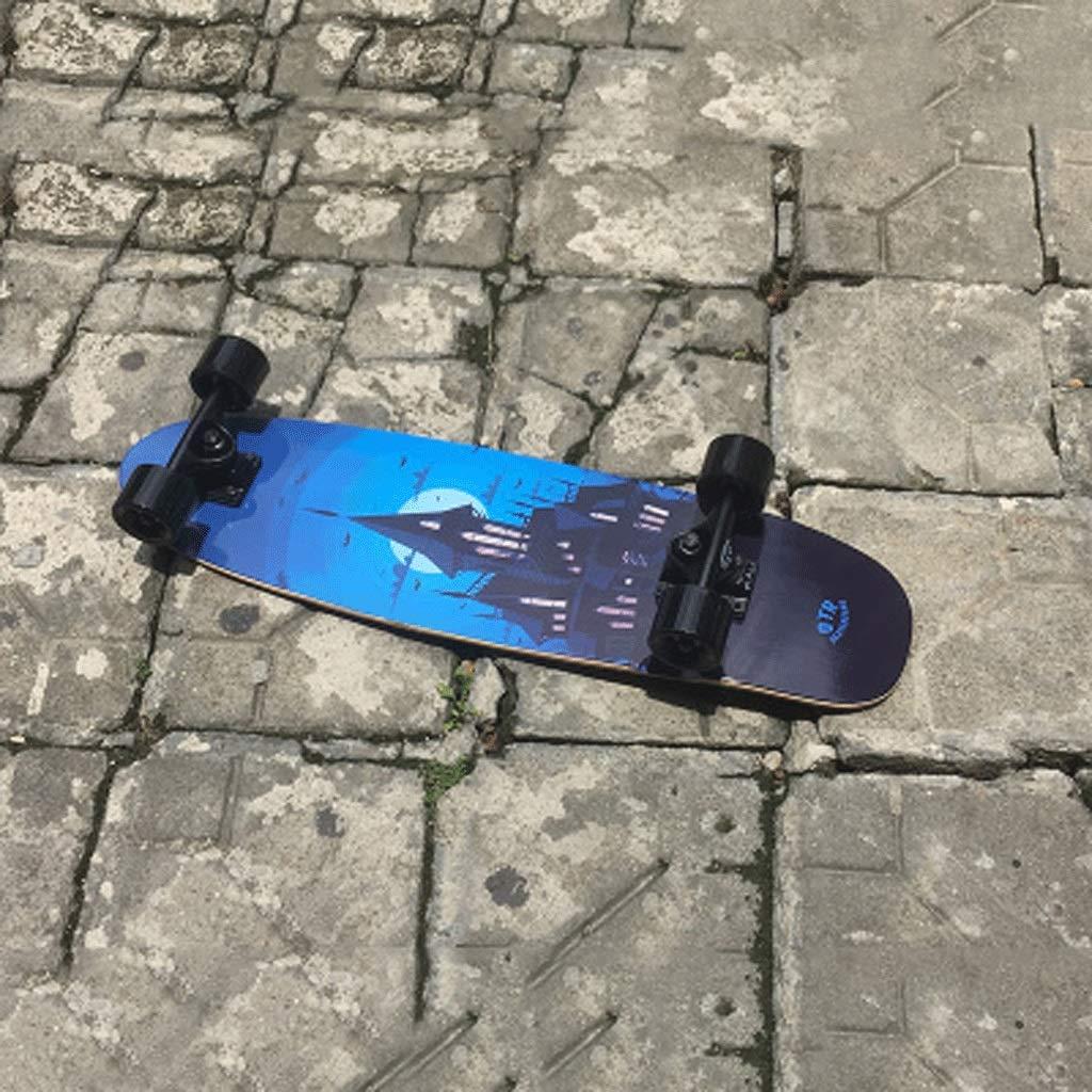 プロフェッショナルビッグフィッシュボード大人初心者四輪スケートボードスモールフィッシュプレートティーンエイジャーボーイズ&ガールズロードストリートショートボード (色 (色 : B07KKB3P7T Stitching blue) B07KKB3P7T Old castle Stitching Old castle, ラグジュアリー1:588a2408 --- koreandrama.store