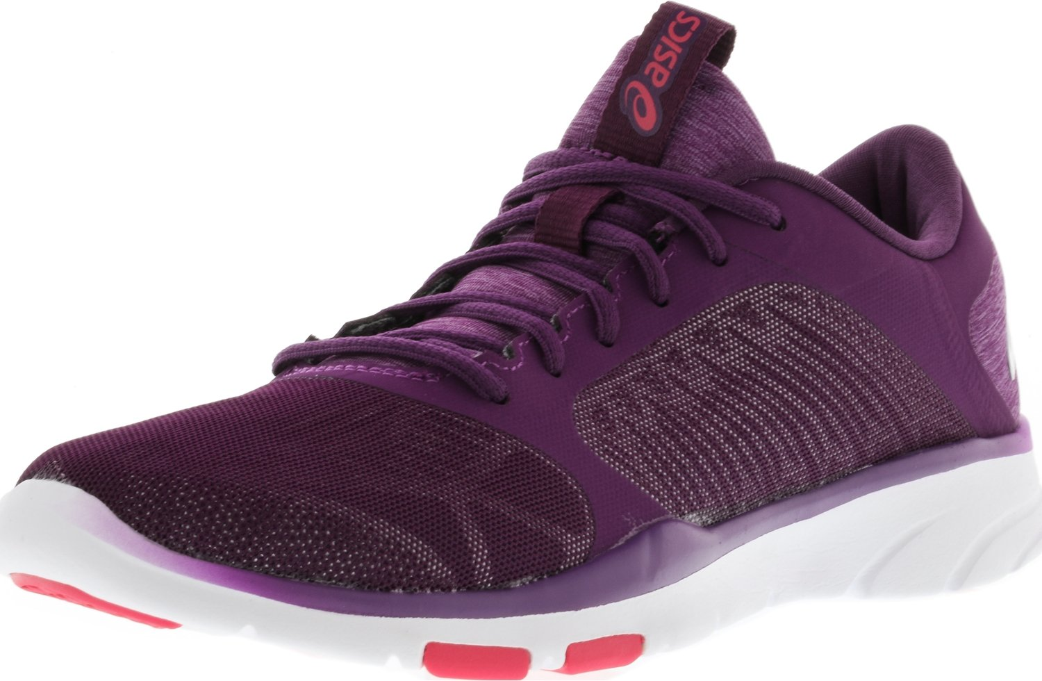 ASICS Women's Gel-Fit Tempo 3 Cross Trainer, Prune/Silver/Rouge Red, 7 Medium US