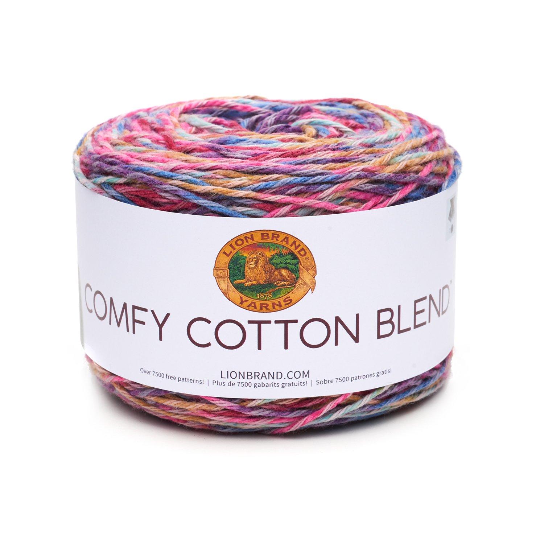 Amazon.com: Lion Brand Yarn 756-700 Comfy Cotton Blend Yarn, Flower ...