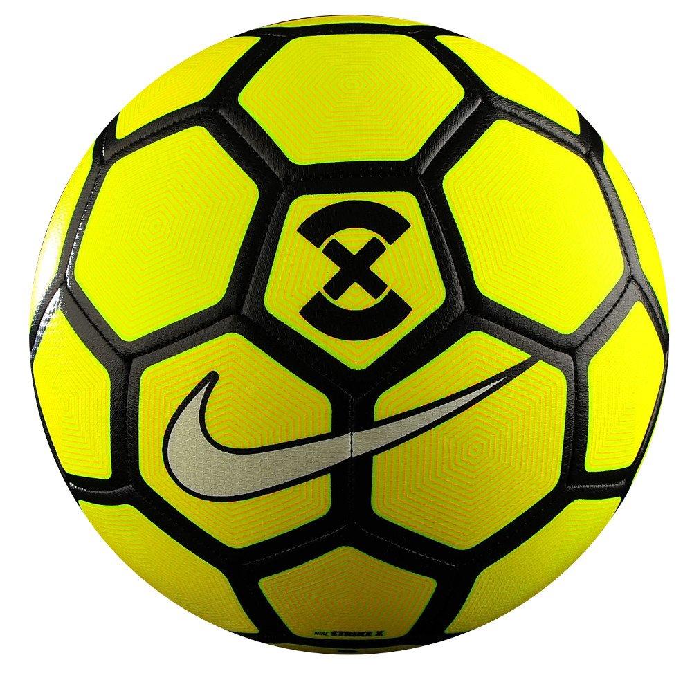 NIKE FOOTBALLX STRIKE FootBall   Color: Volt/Laser Orange/Black/White , Size :5  Match Balls
