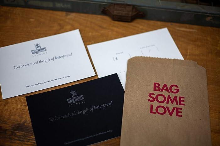 Amazon Com Letterpress Gift Certificate Rad Last Minute Gift Idea