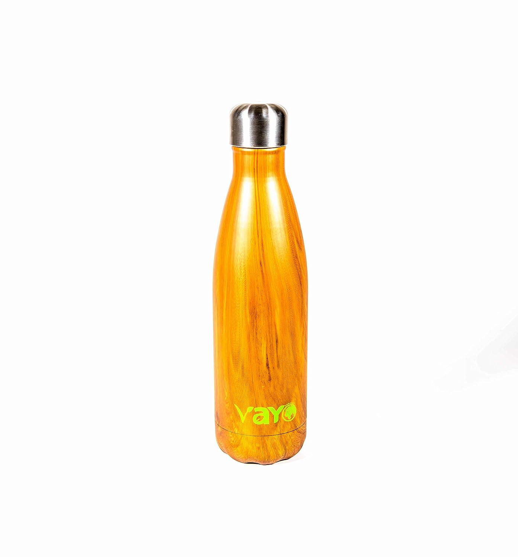 Vayo木製andスチール水ボトル B0799QFKRW
