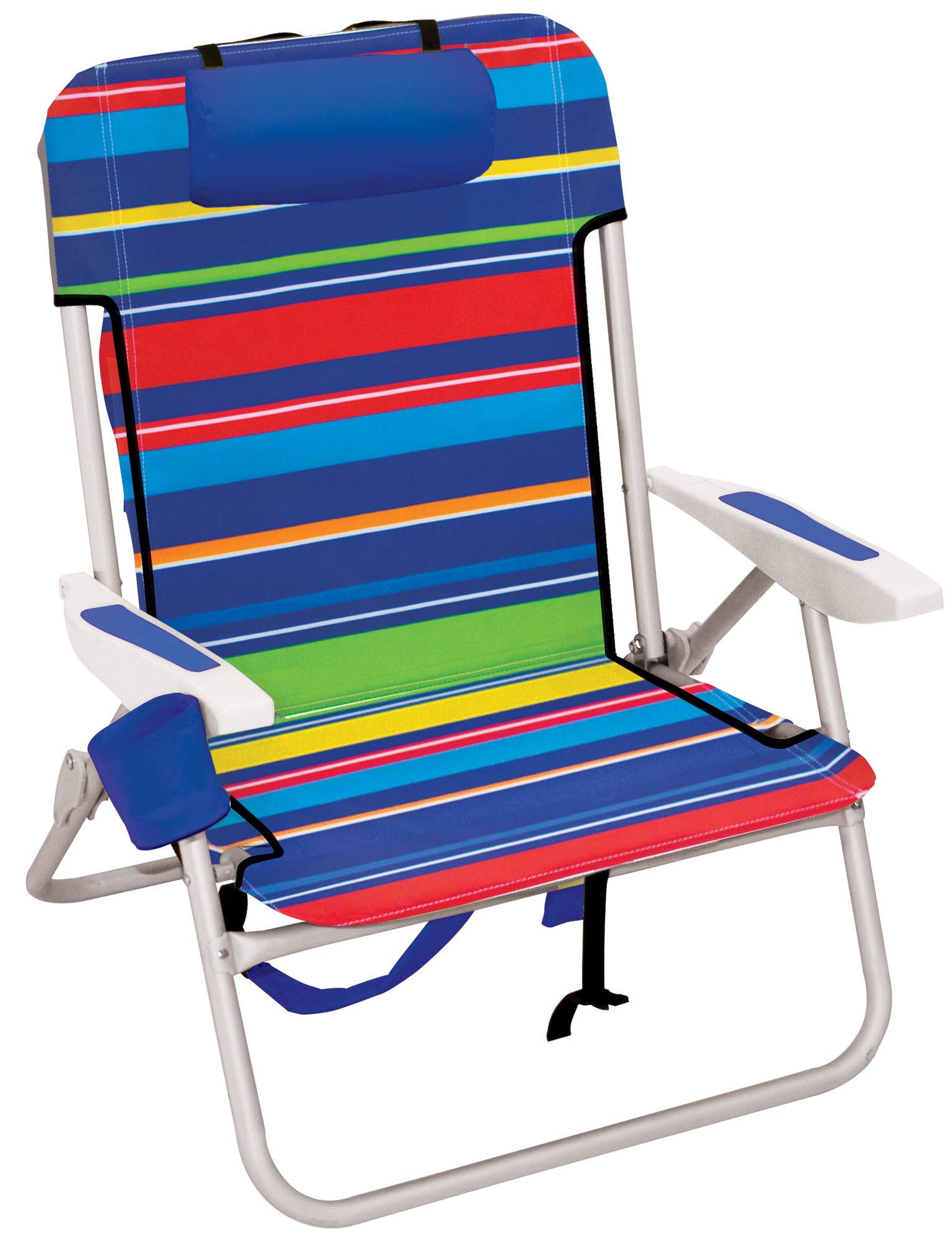 Rio Beach Big Boy Folding 13 Inch High Seat Backpack Beach or Camping Chair