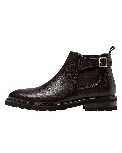 Massimo Dutti - Botas para Hombre Marrón marrón, Color Marrón, Talla 42.5: Amazon.es: Zapatos y complementos