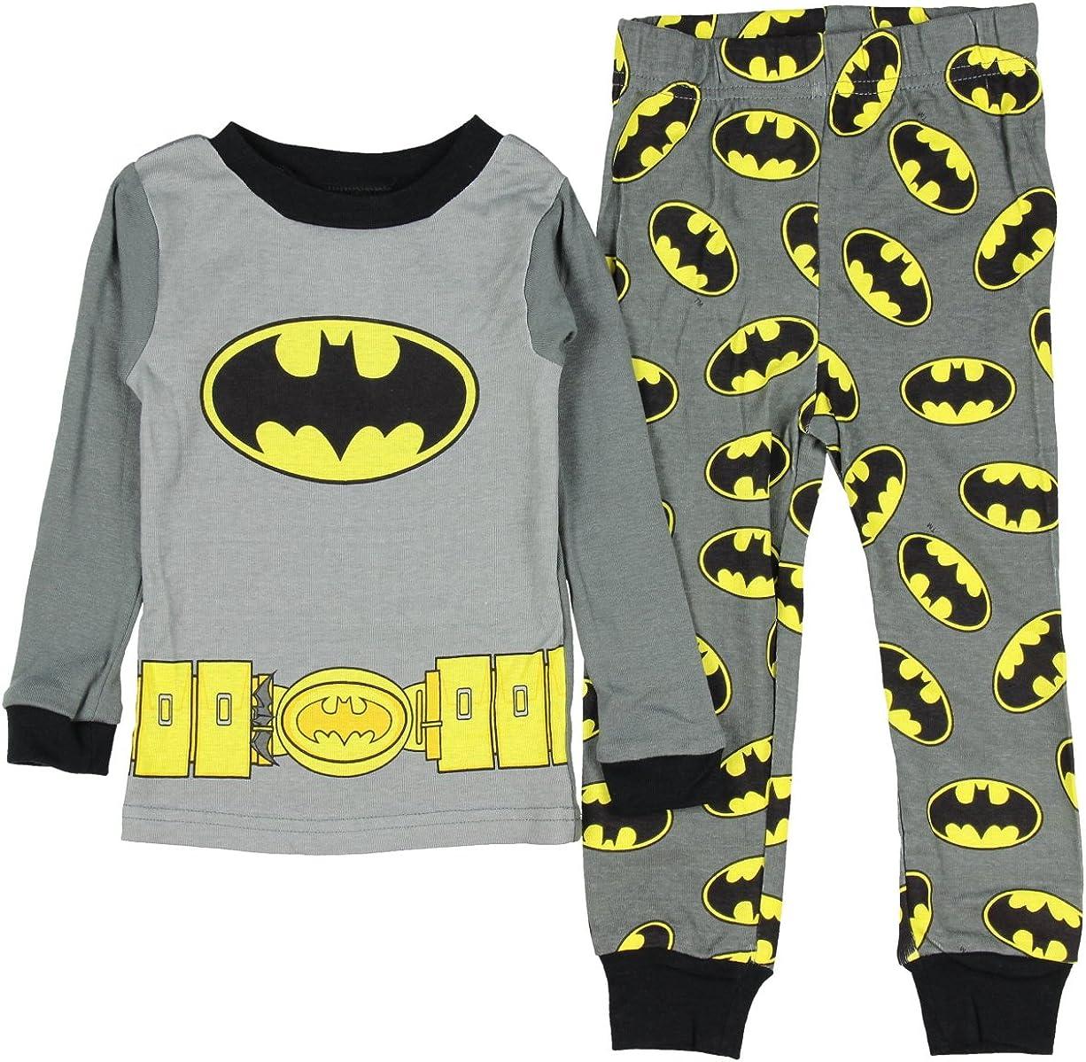 DC Comics Batman Baby Boys 2 Piece Shirt /& Shorts Pajama Set