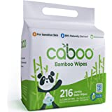 Caboo Tree-Free Bamboo Baby Wipes, Eco-Friendly Natural Baby Wipes for Sensitive Skin, 3 Resealable Peel Tab Travel…