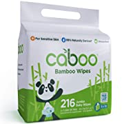 Caboo Tree-Free Bamboo Baby Wipes, Eco-Friendly Natural Baby Wipes for Sensitive Skin, 3 Resealable Peel Tab Travel Packs, 72 Wipes Per Pack, Total of 216 Wipes