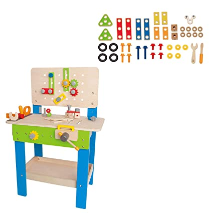 Wondrous Amazon Com Hape Wooden Tool And Workbench Toy And 42 Piece Uwap Interior Chair Design Uwaporg