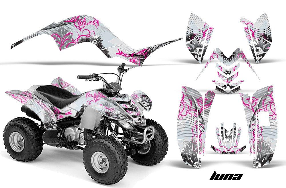 Yamaha Raptor 80 2002-2008 ATV All Terrain Vehicle AMR Racing Graphic Kit Decal LUNA PINK