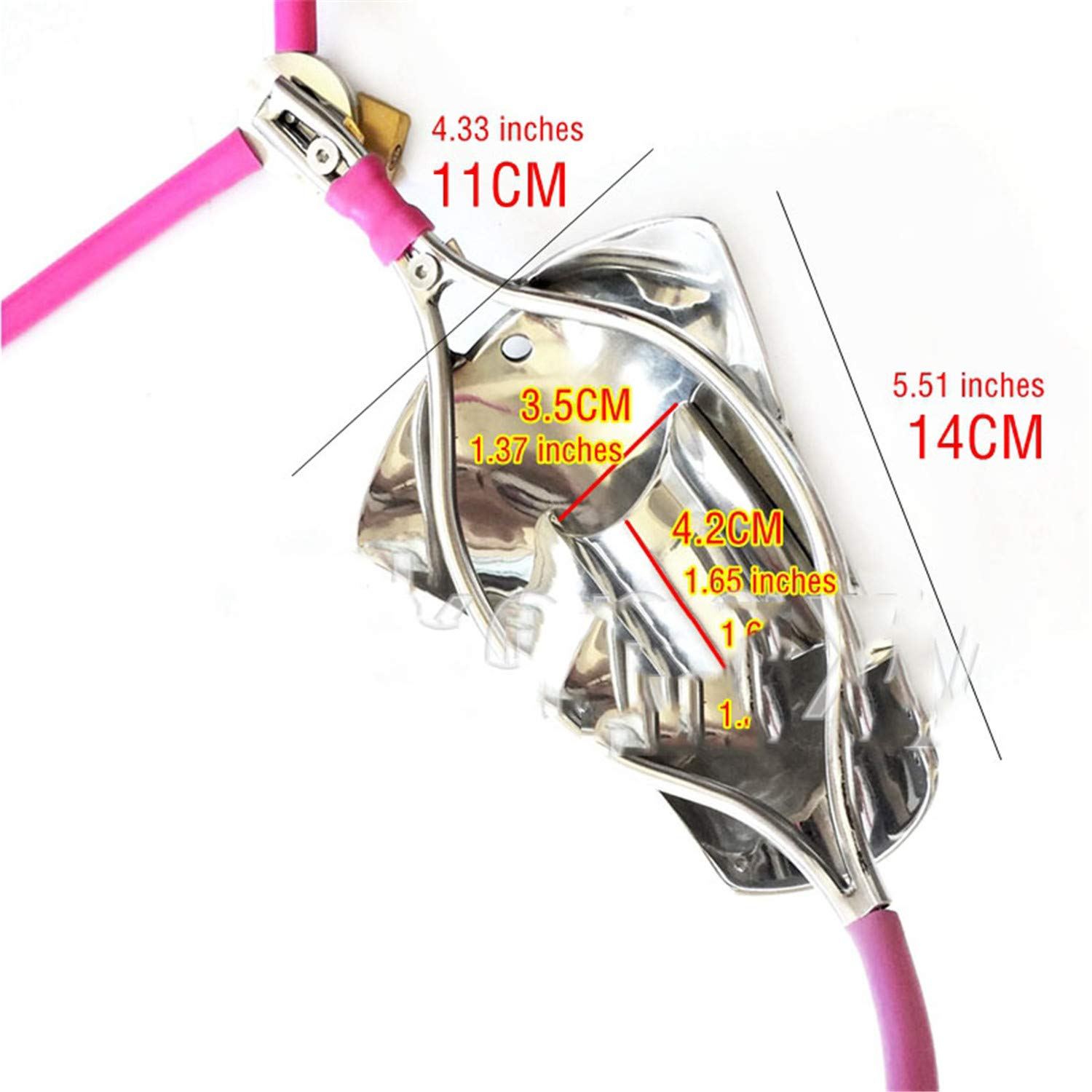 Cathet-er Sound Fully Adjustable Chastity Jeff Tribble Belt Stealth Male Stainless Steel Lock Cage Chastity Cages Adult Game Restraint Device by Jeff Tribble (Image #6)