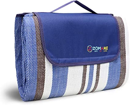 ZOMAKE Picnic Blanket with Waterproof Backing Extra Large Washable Beach Mat for Outdoor Concert Camping