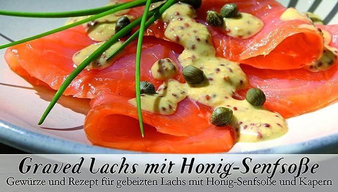 Feuer & Glas, Receta para Salmón Salado con Salsa de Mostaza con Especias, ...