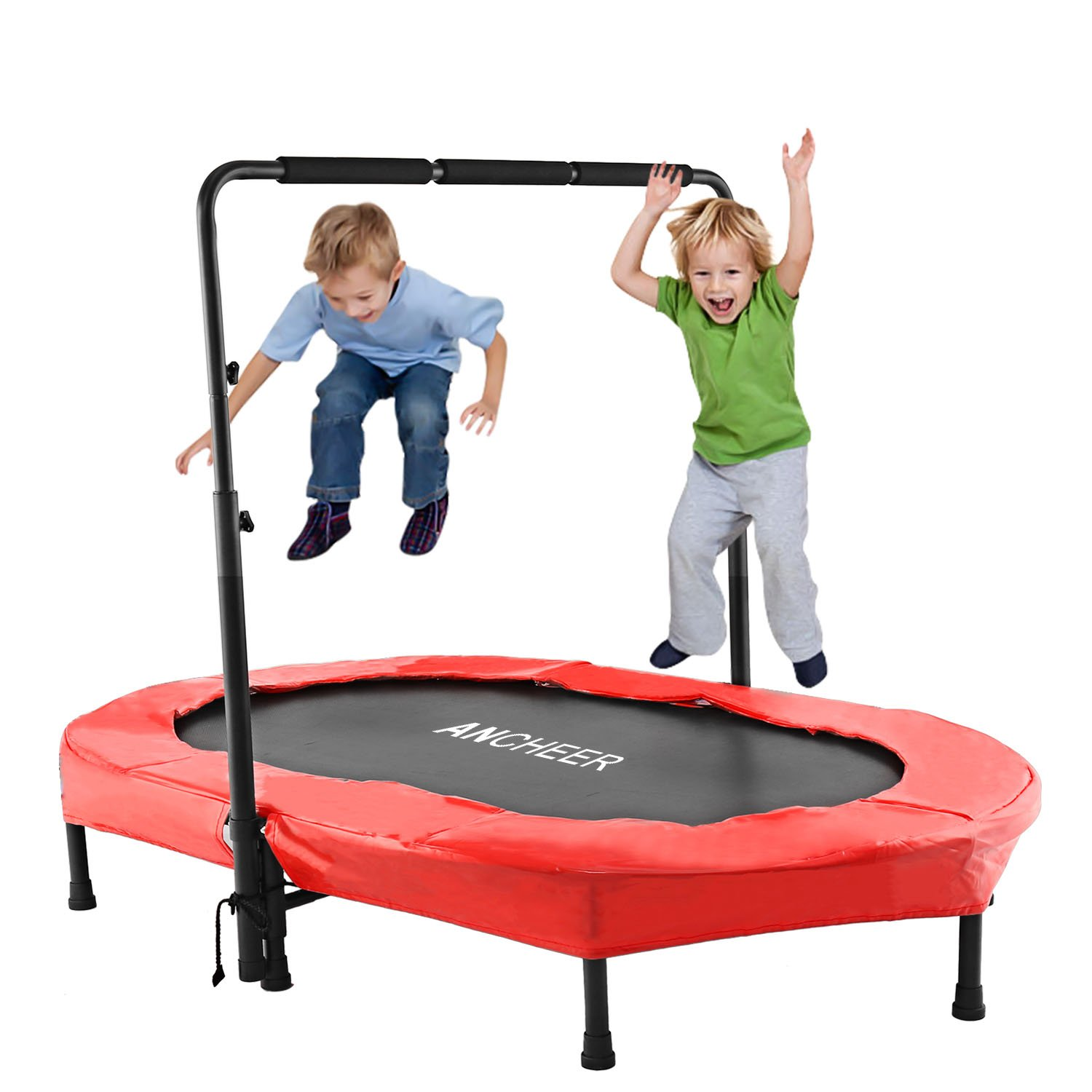 ANCHEER Mini Trampoline for Two Kids, Parent-Child Trampoline with Adjustable Handle by ANCHEER