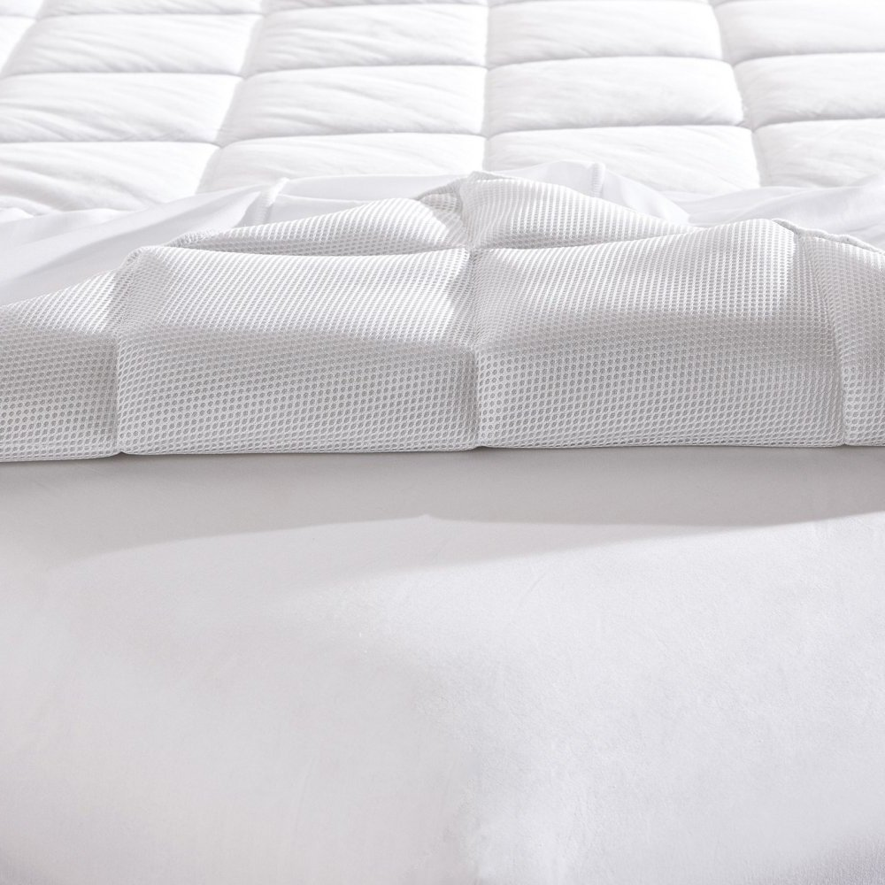 Mattress Pad. Best Comfort, Soft, Hypoallergenic, Breathable, Natural 100% Cotton Topper Pillow For Deep Healthy Sleep. Durable, Washable Cover Protects Bed From Dust, Stains & Wetness. (Cal King)