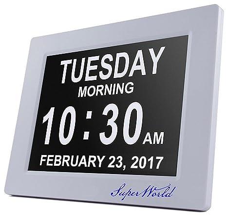 Reloj Digital calendario día y hora SUPERWORLD® 8