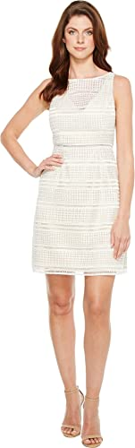 Adrianna Papell Womens Eyelet Lace A-Line Skirt Dress