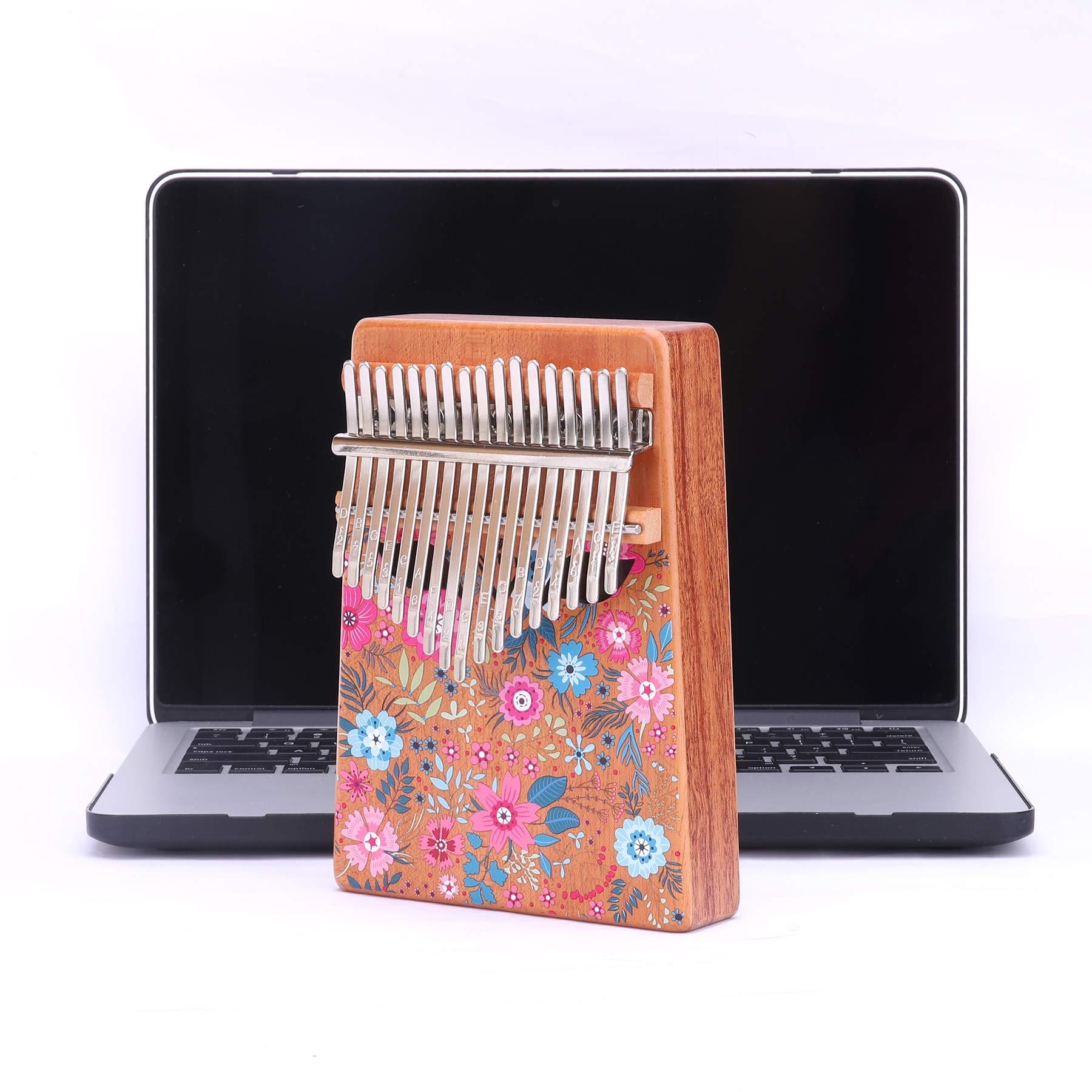 VI VICTORY 17 Key 3D Painted Kalimba African Thumb Piano Finger Percussion Keyboard Music Instruments - Sakura 2 by VI VICTORY (Image #2)