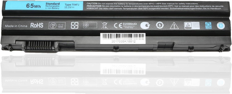 T54FJ T54F3 Laptop Battery for Dell Latitude E6430 E6420 E6520 E6530 E6440 E5530 E5430 Inspiron 14R 5420 15R 5520 7520 17R 5720 7720 Replacement Battery P/N:M5Y0X 8858X 312-1325 312-1165 [11.1V 65WH]