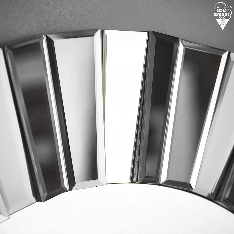 Specchio Rotondo Parete 3d Effetto Vetro Con Design A Specchio Per Soggiorno Salone Camera Da Letto Grigio Argento Ice Cream Whats Your Flavour Knightsbridge Arredamento Ingresso