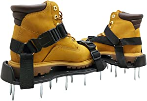Osaava Lawn Aerator Shoes, Full Assembled Spiked Aerating Lawn Sandals New Unique Design for Aerating Your Lawn Greener and Healthier Garden or Yard Sturdy Universal Size That Fits All