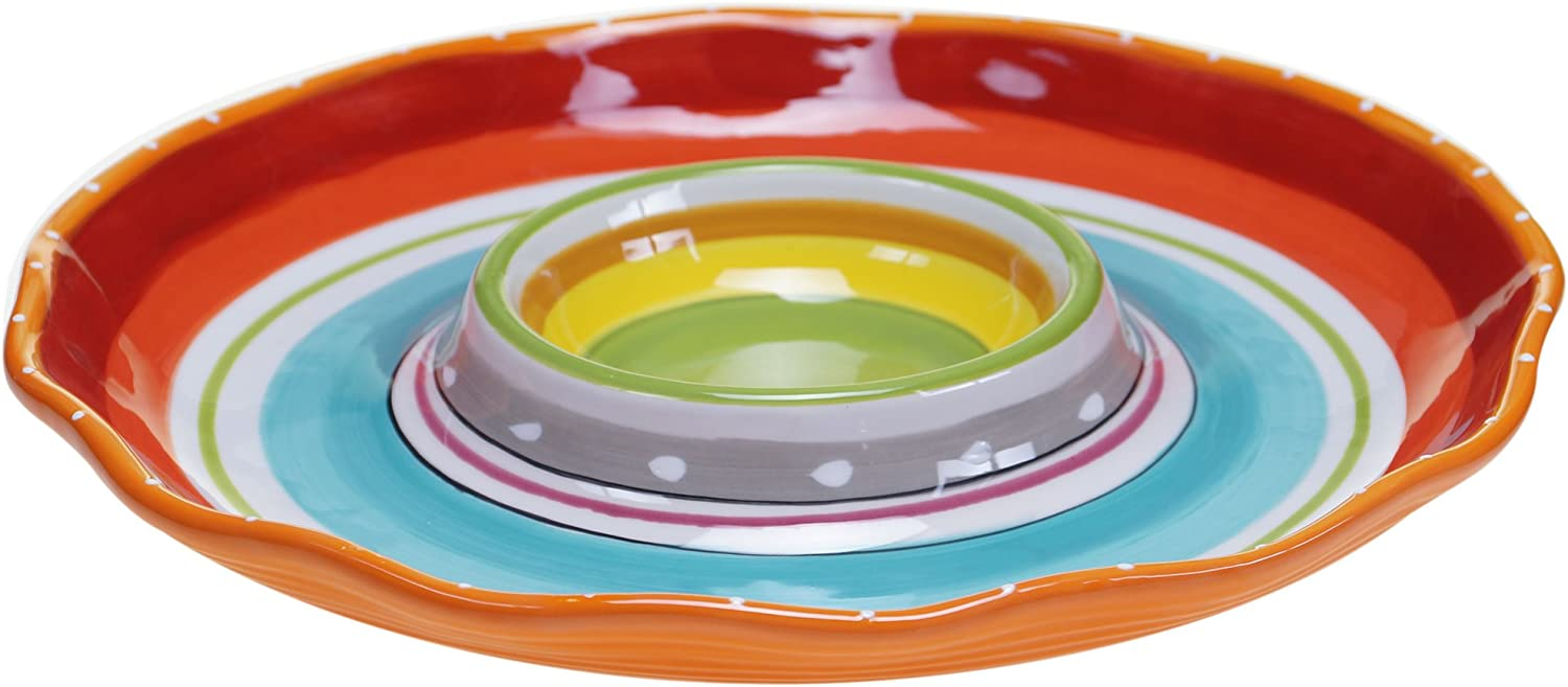 """Certified International Mariachi Chip and Dip Serving Set, 13.5"""", Multicolor"""